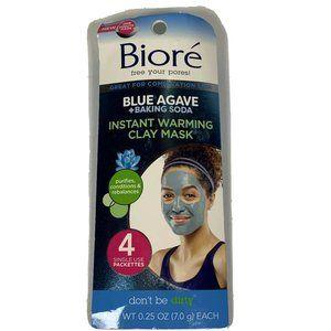 Bioré Blue Agave + Baking Soda Clay Mask 4ct